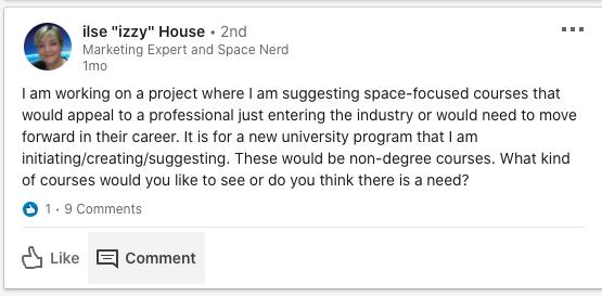Case Study - Space-Comm Community - Engagement 3