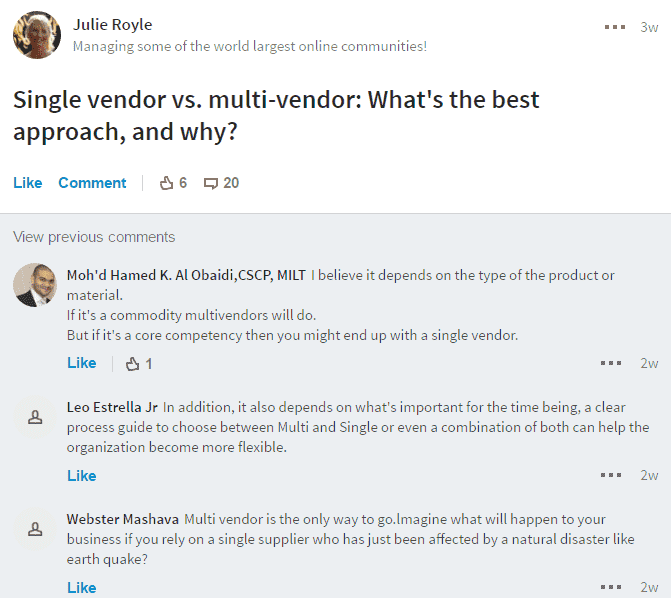 Single vendor vs. multi-vendor: waht's the best aproach, and why?