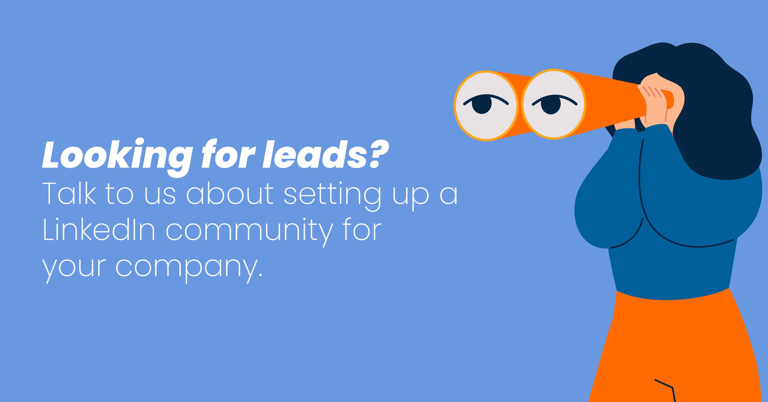 Setup a Linkedin Community for your company
